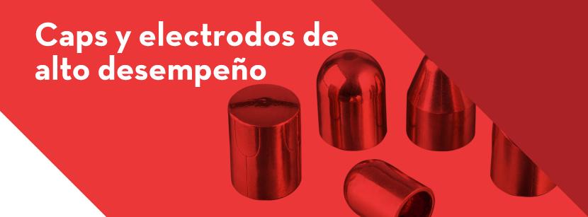 caps y electrodos en aleaciones de cobre