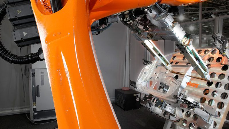 sensor de fuerza robot soldadura