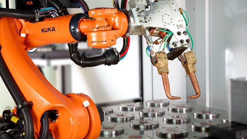 sensor de posición robot soldadura