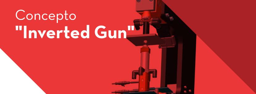 pistola invertida para Soldadura por puntos