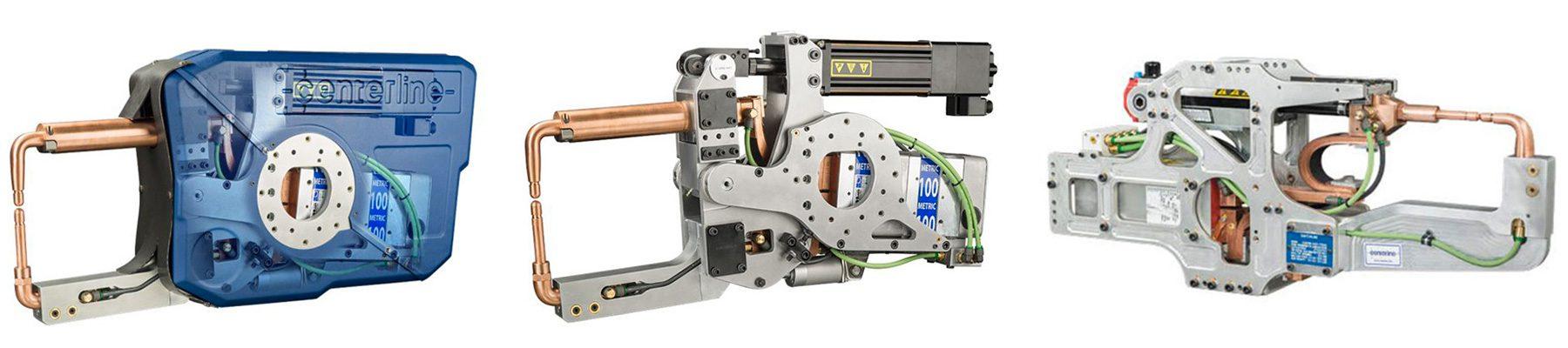 pistolas de soldadura manuales y robot